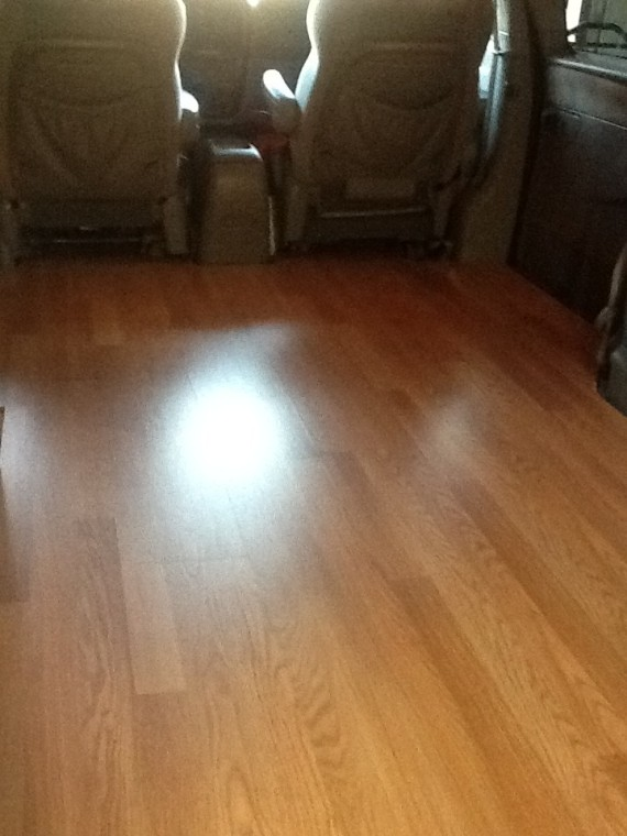 Laminate Flooring in the van