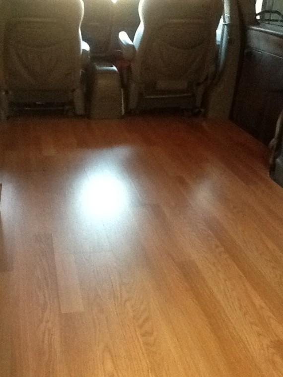 Laminate Flooring in the van