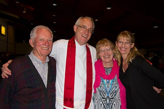 Mom and Dad with Clay and Jill after his institution at St. John the Divine. It was great to have my brother and sister-in-law there too! (Dan and Stacey!) Great time of celebration!