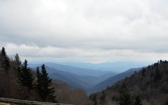 The higher I got up into the mountains the colder it became...here is why they call it the Smoky Mountains!
