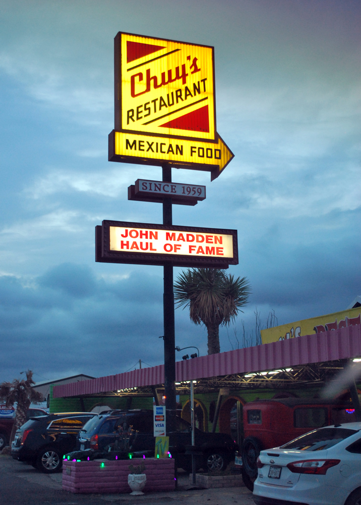 "The location of my third marriage proposal since this trip began! It was a very tasty dinner for sure, but even that could not convince me that ""yes"" was suppose to be my answer! Chuy's at Van Horn."