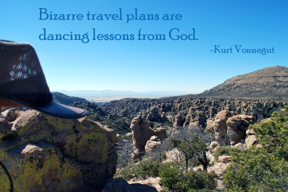 Vonnegut quote on Chiricahua mountains