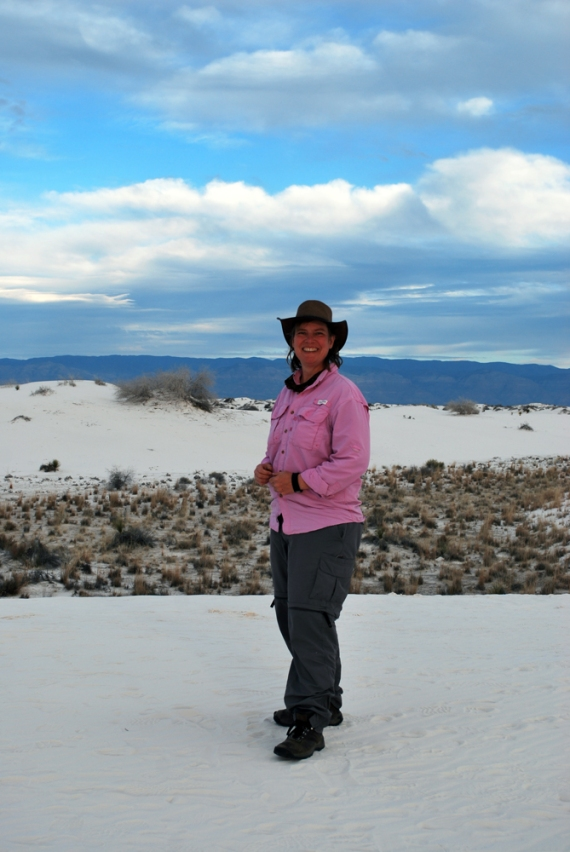 Deb at White Sands