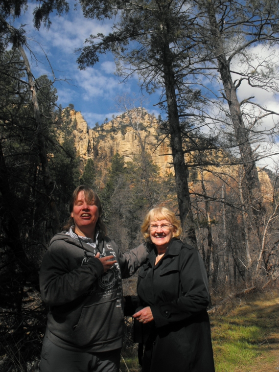 Mom and I at Oak creek Canyon