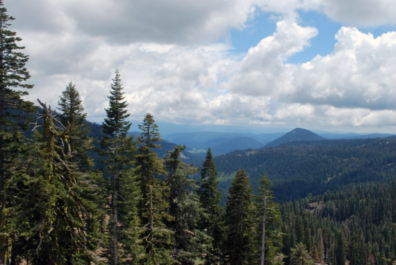 Lassen national park overlook
